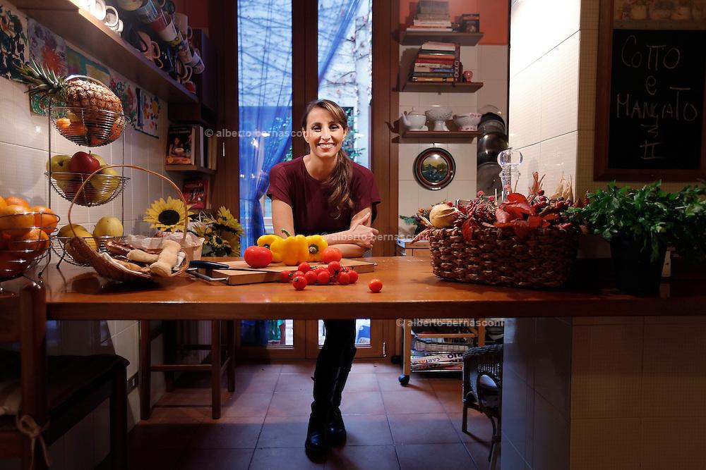 Milano, Benedetta PARODI  nella sua casa a Segrate.