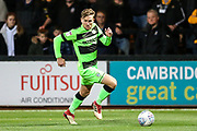 Forest Green Rovers Dayle Grubb(8) runs forward during the EFL Sky Bet League 2 match between Cambridge United and Forest Green Rovers at the Cambs Glass Stadium, Cambridge, England on 2 October 2018.