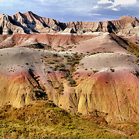 Rock Mounds and Brute Formations at Badlands Loop Byway, South Dakota<br />