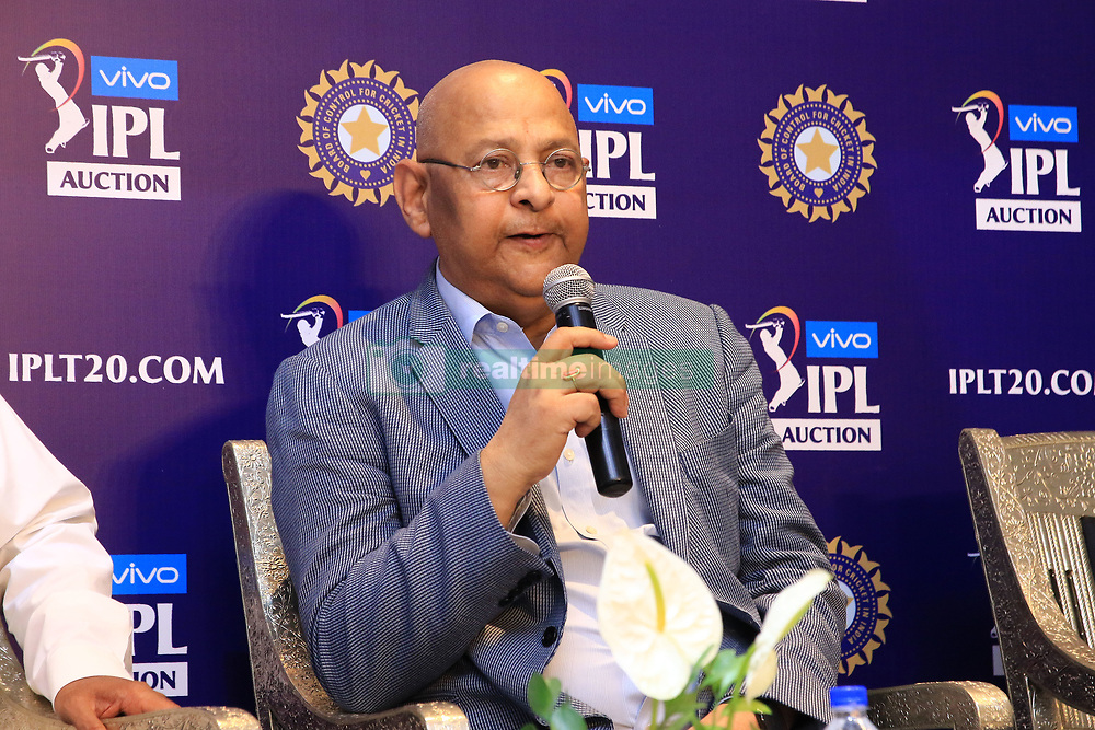 December 18, 2018 - Jaipur, Rajasthan, India - Board Of Control For Cricket In India (BCCI) secretary Amitabh Choudhary speaks at a press conference for the Indian Premier League 2019 auction in Jaipur on December 18, 2018, as teams prepare their player rosters ahead of the upcoming Twenty20 cricket tournament next year. The 2019 edition of the IPL -- one of the world's most-watched sporting events attracting the world's top stars -- is set to take place in April and May next year.(Photo By Vishal Bhatnagar/NurPhoto) (Credit Image: © Vishal Bhatnagar/NurPhoto via ZUMA Press)