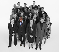 Portrait of multi-ethnic business team standing together