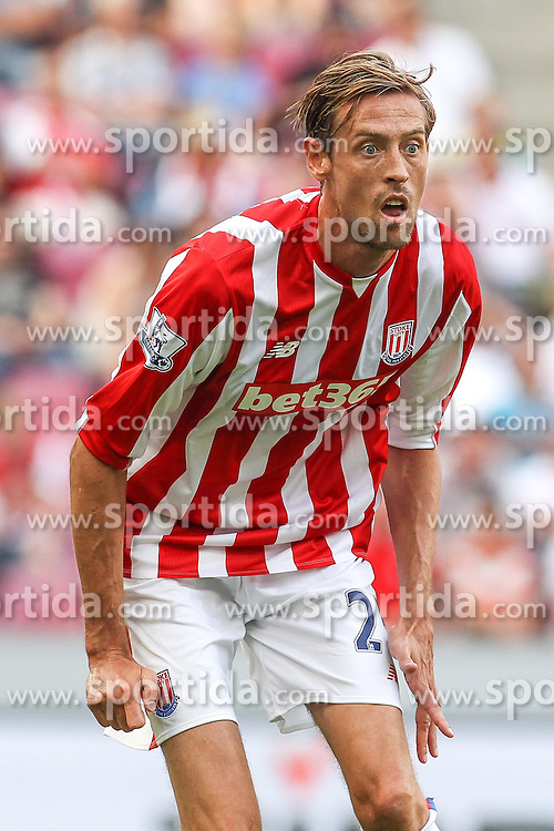02.08.2015, Rhein Energie Stadion, Koeln, GER, Testspiel, Stoke City vs FC Porto, im Bild Peter Crouch (Stoke City FC #25) // during the International Friendly Football Match between Stoke City and FC Porto at the Rhein Energie Stadion in Koeln, Germany on 2015/08/02. EXPA Pictures &copy; 2015, PhotoCredit: EXPA/ Eibner-Pressefoto/ Schueler<br /> <br /> *****ATTENTION - OUT of GER*****