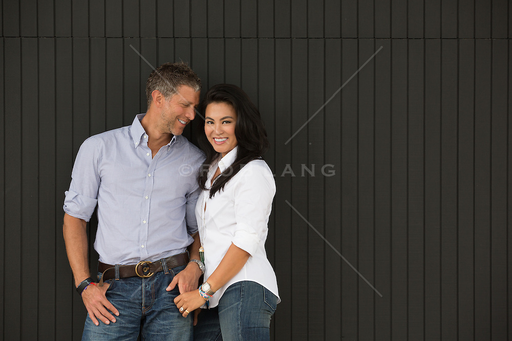 portrait of a husband and wife together at home