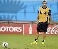 Leonardo Bonucci of Italy during training at Arena das Dunas, Natal<br /> Picture by Stefano Gnech/Focus Images Ltd +39 333 1641678<br /> 23/06/2014