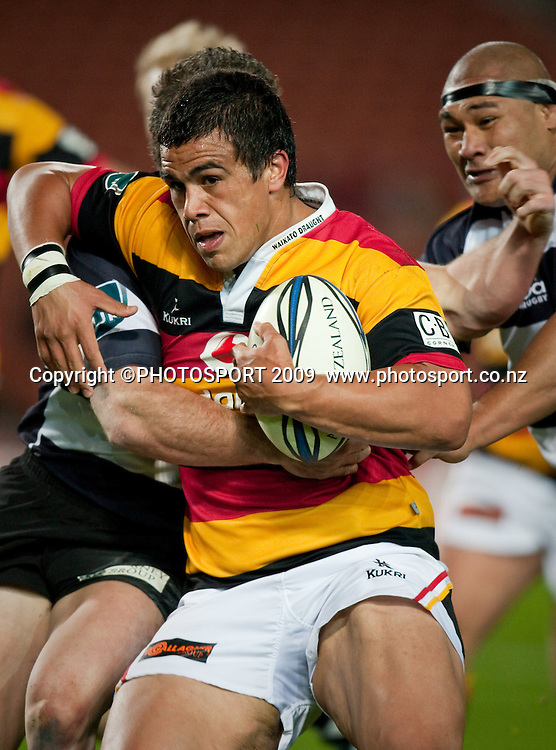 Waikato's Hikairo Forbes in action during the Air New Zealand Cup rugby match between Waikato and Hawkes Bay at Waikato Stadium, Hamilton, New Zealand, Saturday 05 September 2009. Photo: Stephen Barker/PHOTOSPORT