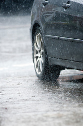 16:37 Ecclesfield Sheffield UK.The rain is so heavy that surface water it is soon running like a river..5 July 2012.Image © Paul David Drabble