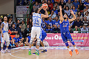 DESCRIZIONE : Beko Legabasket Serie A 2015- 2016 Dinamo Banco di Sardegna Sassari - Enel Brindisi<br /> GIOCATORE : Rok Stipcevic<br /> CATEGORIA : Tiro Tre Punti Three Point Controcampo<br /> SQUADRA : Dinamo Banco di Sardegna Sassari<br /> EVENTO : Beko Legabasket Serie A 2015-2016<br /> GARA : Dinamo Banco di Sardegna Sassari - Enel Brindisi<br /> DATA : 18/10/2015<br /> SPORT : Pallacanestro <br /> AUTORE : Agenzia Ciamillo-Castoria/L.Canu