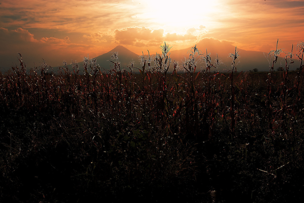 Sunset over Mt Ararat.