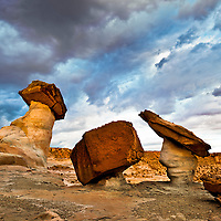 Balancing Rock formations near Lake Powell, AZ.