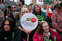 Tens of thousands march through London on anti-government Anti-Austerity protest through London 20 June 2014