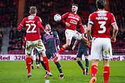 Middlesbrough midfielder Lewis Wing (26) in action during the EFL Sky Bet Championship match between Middlesbrough and Leeds United at the Riverside Stadium, Middlesbrough, England on 26 February 2020.