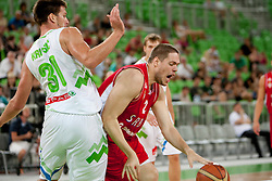 Vladimir Stimac of Serbia during friendly basketball match between National teams of Slovenia and Serbia of Adecco Ex-Yu Cup 2012 as part of exhibition games 2012, on August 5, 2012, in Arena Stozice, Ljubljana, Slovenia. (Photo by Urban Urbanc / Sportida)