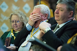 © Licensed to London News Pictures . 15/03/2015 . Liverpool , UK .PADDY ASHDOWN yawns in the audience at the conference . The Liberal Democrat Party Conference at the Arena and Conference Centre in Liverpool . Photo credit : Joel Goodman/LNP
