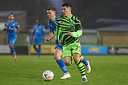 Forest Green Rovers Jack Aitchison(29), on loan from Celtic runs forward during the The FA Cup match between Forest Green Rovers and Billericay Town at the New Lawn, Forest Green, United Kingdom on 9 November 2019.