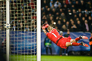 25.11.2015. Malm&ouml;, Sweden. <br /> Malm&ouml;'s goalkeeper Johan Wiland during the UEFA Champions League match at the Malm&ouml; Stadium. <br /> Photo: &copy; Ricardo Ramirez.