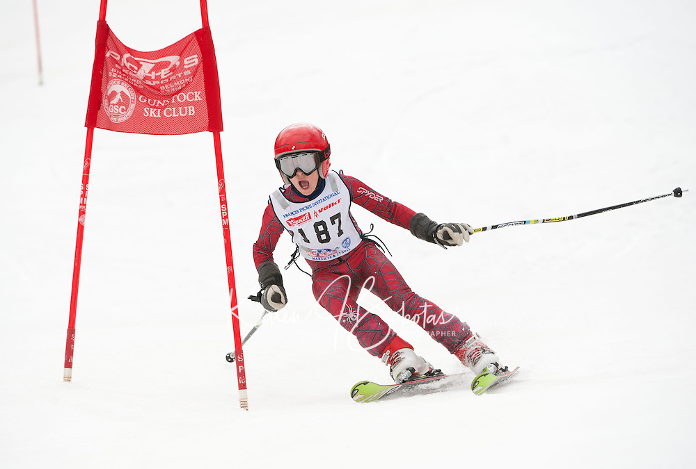 Francis Piche Invitational giant slalom 2nd run J5 at Gunstock March 17, 2012.