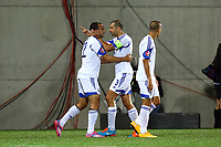 Omer Damari of Israel (L) celebrates with Tal Ben Haim after scoring his side's opening goal during the 2016 UEFA European Championship qualifying football match, Group B, between Andorra and Israel on October 13, 2014 at Estadi Nacional in Andorra la Vella, Andorra. Photo Manuel Blondeau / AOP PRESS / DPPI