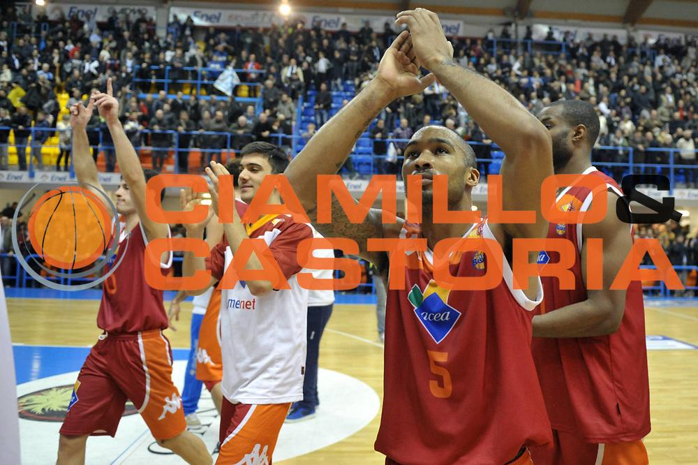 DESCRIZIONE : Brindisi Lega A 2012-13 Enel Brindisi Acea Roma<br /> GIOCATORE : Goss Phil<br /> CATEGORIA : Esultanza<br /> SQUADRA : Acea Roma<br /> EVENTO : Campionato Lega A 2012-2013 <br /> GARA : Enel Brindisi Acea Roma<br /> DATA : 30/12/2012<br /> SPORT : Pallacanestro <br /> AUTORE : Agenzia Ciamillo-Castoria/V.Tasco<br /> Galleria : Lega Basket A 2012-2013  <br /> Fotonotizia : Brindisi Lega A 2012-13 Enel Brindisi Acea Roma<br /> Predefinita :
