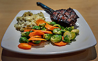 Steak dinner in San Diego the night before boarding the MV World Odyssey for the Semester at Sea, 2016 Spring Semester Voyage. Image taken with a Leica T camera and 23 mm f/2 lens (ISO 800, 23 mm, f/2.8, 1/30 sec). Raw image processed with Capture One Pro, Google Define 2, and Photoshop CC.