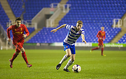 READING, ENGLAND - Wednesday, March 12, 2014: Reading's Jack Stacey in action against Liverpool during the FA Youth Cup Quarter-Final match at the Madejski Stadium. (Pic by David Rawcliffe/Propaganda)