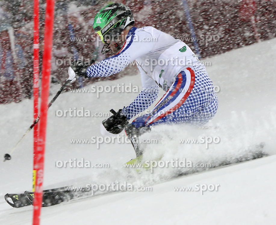 27.01.2015, Planai, Schladming, AUT, FIS Weltcup Ski Alpin, Nightrace, Slalom, Herren, 1. Durchgang, im Bild Alexander Khoroshilov (RUS) // Alexander Khoroshilov of Russia in action during 1st run of mens slalom of the Schladming FIS Ski Alpine World Cup at the Planai course in Schladming, Austria on 2015/01/27. EXPA Pictures © 2015, PhotoCredit: EXPA/ Martin Huber