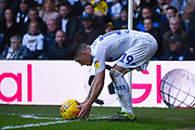 Pablo Hernandez of Leeds United (19) places the ball down for a corner during the EFL Sky Bet Championship match between Leeds United and Bolton Wanderers at Elland Road, Leeds, England on 23 February 2019.