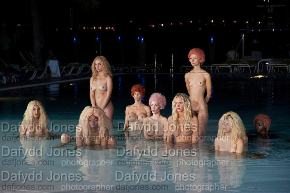 "MODELS PERFORMING VANESSA BEECHCROFT INSTALLATION, Neville Wakefield and Playboy host ÒNude as MuseÓ evening art salon. Standard Hotel.  Miami. 4 December 2010. -DO NOT ARCHIVE-© Copyright Photograph by Dafydd Jones. 248 Clapham Rd. London SW9 0PZ. Tel 0207 820 0771. www.dafjones.com.<br /> MODELS PERFORMING VANESSA BEECHCROFT INSTALLATION, Neville Wakefield and Playboy host ""Nude as Muse"" evening art salon. Standard Hotel.  Miami. 4 December 2010. -DO NOT ARCHIVE-© Copyright Photograph by Dafydd Jones. 248 Clapham Rd. London SW9 0PZ. Tel 0207 820 0771. www.dafjones.com."