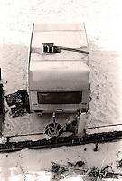 Ei gammel campingvogn på campingplassen bak Akslafjellet i Ålesund.<br /> Foto: Svein Ove Ekornesvåg