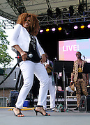 Alfa Anderson performs as SummerStage presents Club Classics Live at Rumsey Playfield in Central Park in New York City, New York on June 28, 2014.