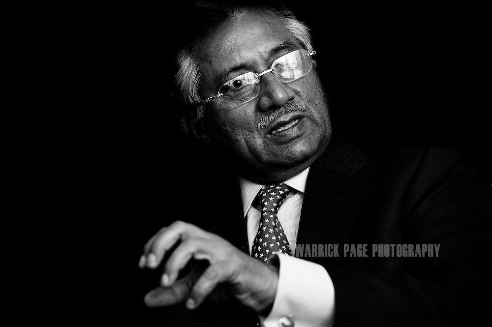 ISLAMABAD, PAKISTAN - MAY 18: Pakistani President Pervez Musharraf discusses Pakistan's various political and internal strife at the Presidential Palace, May 18, 2007, Islamabad, Pakistan. Musharraf, who seized power with a bloodless coup in 1999, has seen his influence and power has significantly weakened since his dismissal of the country's chief justice in March 2007. Musharraf faces unprecedented internal crisis with a crushing defeat during elections,  Islamist group's unending attack on the military, opposition parties lining up against him, the presence of the Taliban inside Pakistan's borders and international pressure to rid the country of it's radical Islamic groups. Since 9/11, Musharraf has vowed to support the USA and it's allies in the war on terror, when Pakistan came under intense scrutiny due to their ties with Islamic fundamentalists. (Photo by Warrick Page)