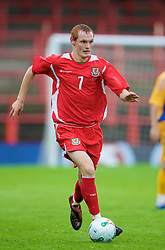 WREXHAM, WALES - Wednesday, August 20, 2008: Wales' Shaun MacDonald in action against Romania during the UEFA Under 21 European Championship Qualifying Group 10 match at the Racecourse Ground. (Photo by David Tickle/Propaganda)