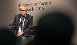 19.08.2015, Kongress, Alpbach, AUT, Forum Alpbach, Eröffnung, im Bild Eröffnungsrednerin Paul Dujardin (Direktor BOZAR Brüssel) bei seiner Eröffnungsrede des Forum Alpachs 2015 // during the opening press conference of European Forum Alpbach at the Congress in Alpach, Austria on 2015/08/19. EXPA Pictures © 2014, PhotoCredit: EXPA/ Jakob Gruber