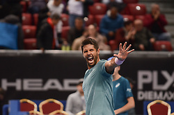 February 7, 2019 - Sofia, Bulgaria - Fernando Verdasco(ESP)M. Copil (ROU) vs F. Verdasco (ESP) during Sofia Open 2019 at Arena Armeec Hall in the Bulgarian capital of Sofia, Bulgaria on February 07, 2019  (Credit Image: © Hristo Rusev/NurPhoto via ZUMA Press)