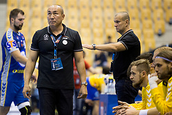 Talant Dujshebaev, head coach of Kielce during handball match between RK Celje Pivovarna Lasko and PGE Vive Kielce in Group Phase A+B of VELUX EHF Champions League, on September 30, 2017 in Arena Zlatorog, Celje, Slovenia. Photo by Urban Urbanc / Sportida