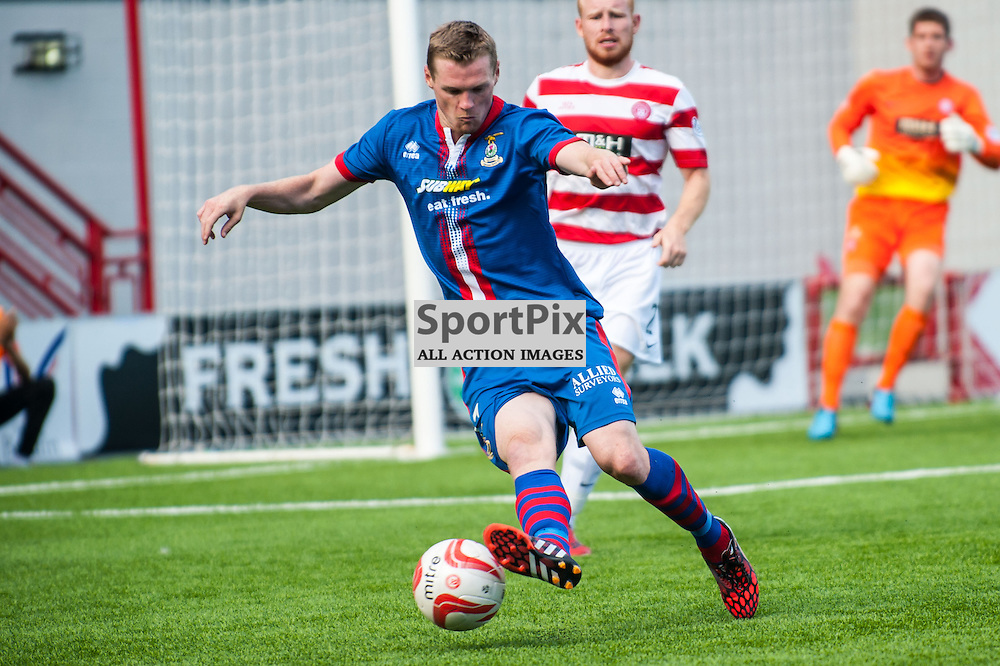 Inverness' Billy McKay in action during the Hamilton Accies v Inverness Caledonian Thistle game in the Scottish Premiership at New Douglas Park in Hamilton, 9 August 2014. (c) Paul J Roberts / Sportpix.org.uk