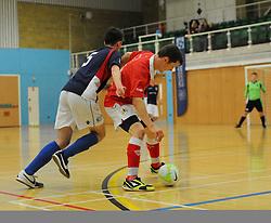 Bristol City Futsal in jostle for possession. - Photo mandatory by-line: Nizaam Jones - Mobile: 07583 387221 - 02/11/2014 - SPORT - Futsal - Gloucester - Gloucester University - v BCFC Futsal- Sport