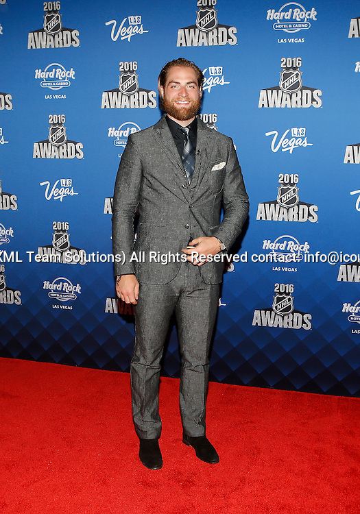 2016 June 22: Washington Capitals goaltender Braden Holtby poses for a photograph on the red carpet during the 2016 NHL Awards at the Hard Rock Hotel and Casino in Las Vegas, Nevada. (Photo by Marc Sanchez/Icon Sportswire)