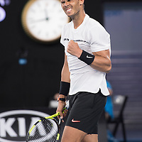 Rafael Nadal of Spain on day eight of the 2017 Australian Open at Melbourne Park on January 23, 2017 in Melbourne, Australia.<br /> (Ben Solomon/Tennis Australia)