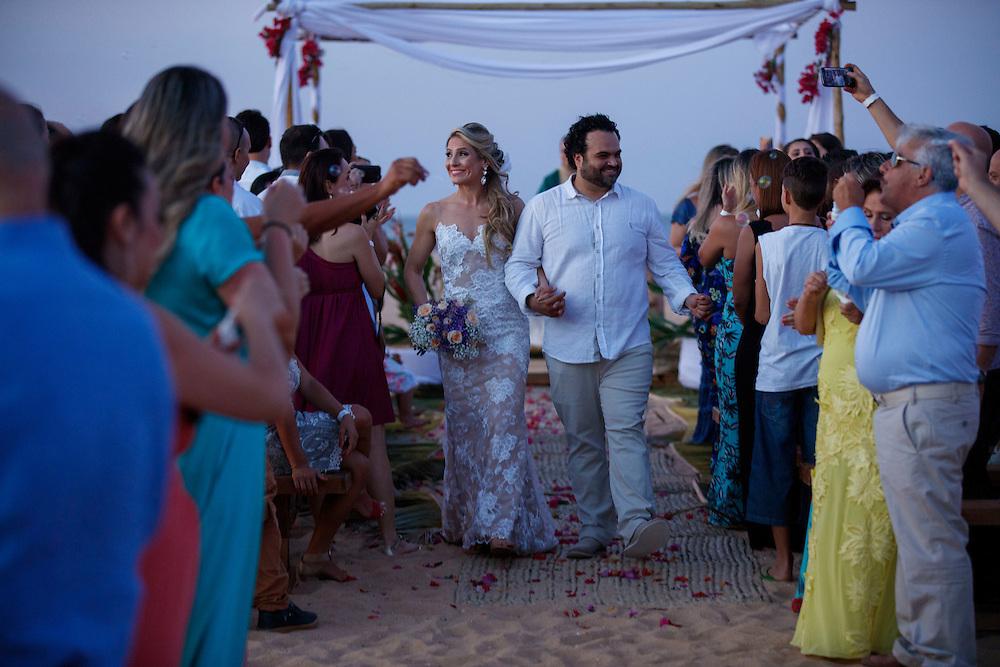 São Miguel do Gostoso, Brasil - November 13 of 2016:  Casamento de Thatiana e Danilo Tas Boudakian. Photo: CAIO GUATELLI