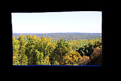 09 October 2013:  Overlook from the North LookOut Tower in  Brown County State Park, Brown County Indiana.