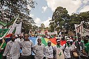 More than 50 000 people from everywhere around the world were joined together for 6 days to assist conferences. Many marched at the opening march, from Kibera to Uhuru's Park, at Nairobi. First time the World Social Forum took place in Africa.