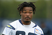 Jun 13, 2019; Costa Mesa, CA, USA:  Los Angeles Chargers  safety Derwin James (33) during minicamp at the Hoag Performance Center.