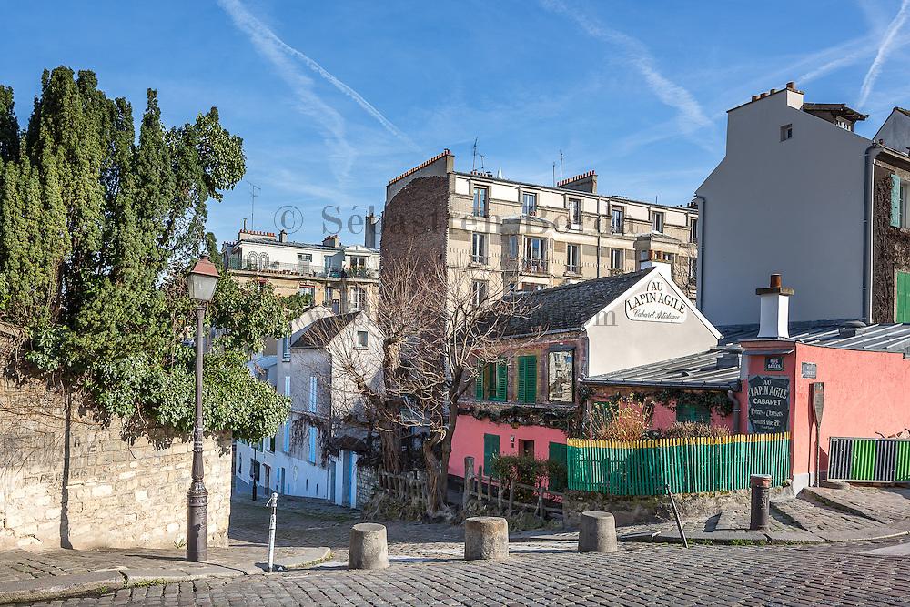 Restaurant Au Lapin Agile dans le quartier de Montmartre // Au Lapin Agile restaurant in Montmartre area