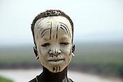 Africa, Ethiopia, Omo Valley, Young Karo tribesman warrior
