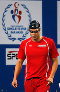 Dominik MEICHTRY of Switzerland walks in before competing in the men's 200m Freestyle Heats during the 11th Fina World Short Course Swimming Championships held at the Sinan Erdem Arena in Istanbul, Turkey, Wednesday, Dec. 12, 2012. (Photo by Patrick B. Kraemer / MAGICPBK)