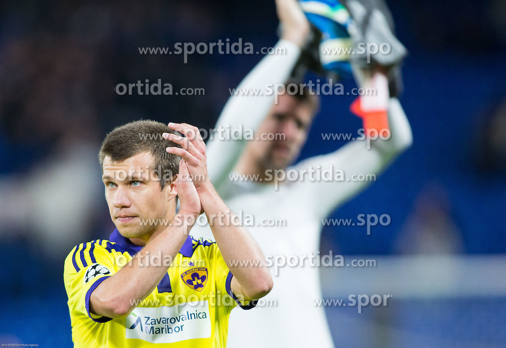 Damjan Bohar of Maribor after the football match between Chelsea FC and NK Maribor, SLO in Group G of Group Stage of UEFA Champions League 2014/15, on October 21, 2014 in Stamford Bridge Stadium, London, Great Britain. Photo by Vid Ponikvar / Sportida.com