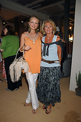Left to right, HANNAH SANDLING and her mother VICKI SANDLING at a priavte view of Marks & Spencer's Autumn Winter collection 2007 held at One The Piazza, Covent Garden, London on 24th May 2007.<br />