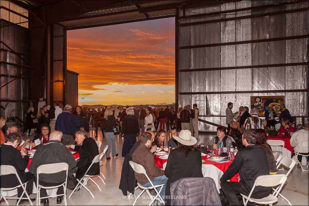 Sunset view from the hangar, during Planes and Cars at the Santa Fe Airport, 2013 Santa Fe Concorso.