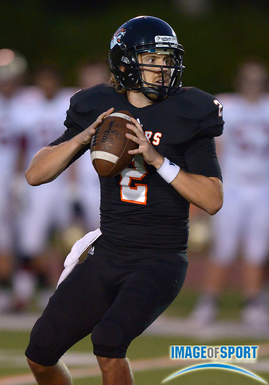 Sep 20, 2013; Los Angeles, CA, USA; Occidental College Tigers quarterback Tommy Edwards throws a pass against the Austin College Kangaroos at Patterson Field.