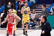 Delusione Vujacic Aleksander, EA7 EMPORIO ARMANI OLIMPIA MILANO vs AUXILIUM FIAT TORINO, 25 giornata Campionato Lega Basket Serie A, Milano 08 aprile 2018 Mediolanum Forum FOTO: Bertani/Ciamillo